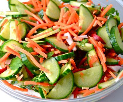 Огуречно-морковный салат