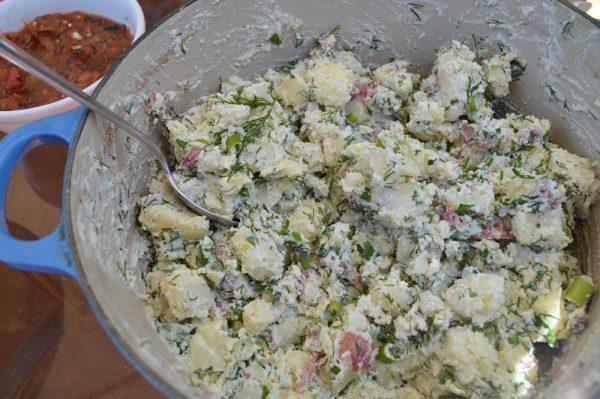 Сырно-картофельный салат