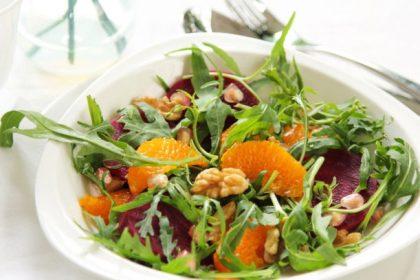 Весенний салат с грейпфрутом