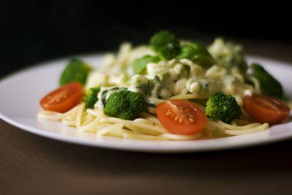 Спагетти с цветной капустой и брокколи
