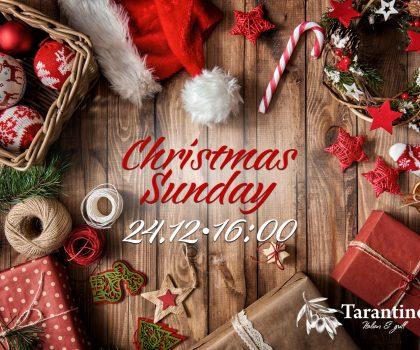 24 декабря Taranyino italian&grill приглашает всей семьей на Christmas Sunday!