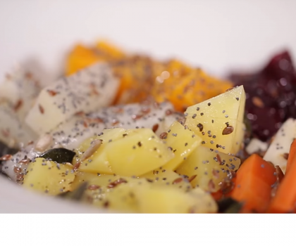 Теплый салат из запеченных овощей: рецепт от Марко Черветти