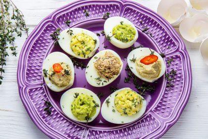 Фаршированные яйца: 3 оригинальных начинки