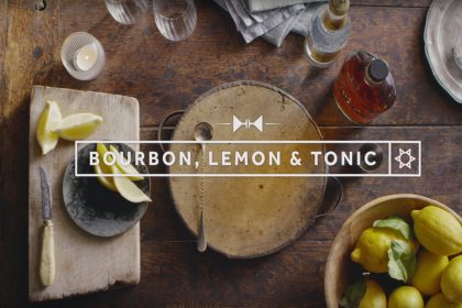 Bulleit Bourbon Lemon & Tonic