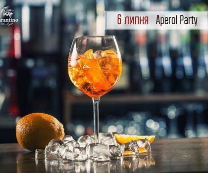 6 липня на Aperol Party в Tarantino italian&grill!