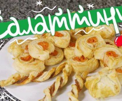 Новогодняя закуска из листового теста: рецепт от Марко Черветти
