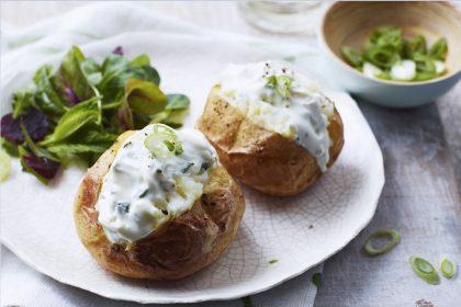 Запечена картопля з крем-сиром та куркою